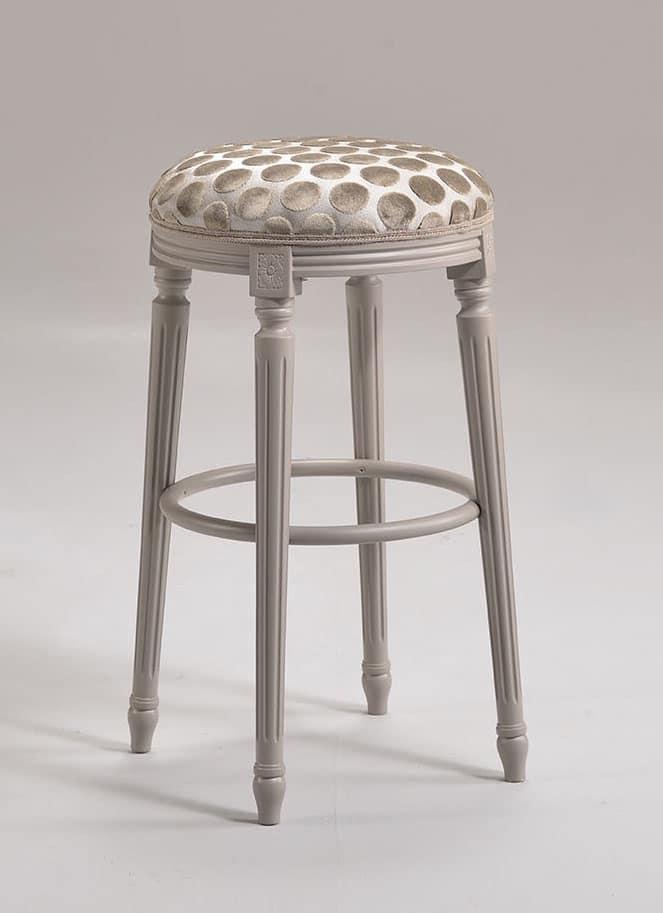 Barstuhl im Stil Louis XVI, in Buche, für Marine-Möbel | IDFdesign