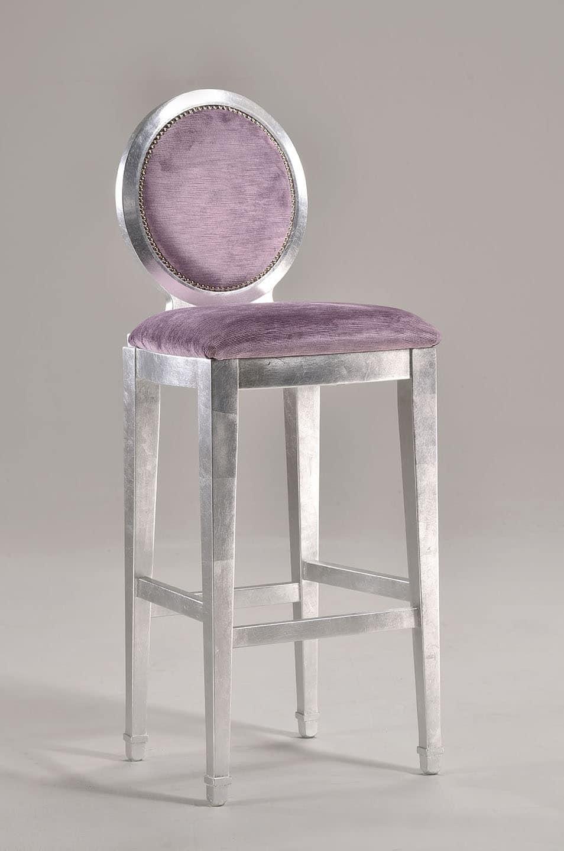 LUNA barstool 8269B, Feste Höhe Stuhl mit Rückenlehne oval, klassischer Stil