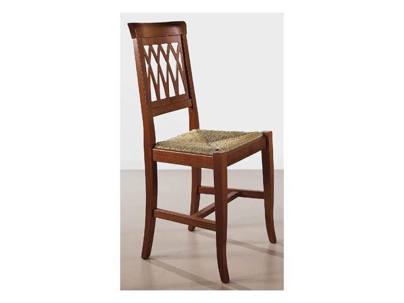 157, Rustikalen Stuhl, Rücken gearbeitet, für Wohnbereich