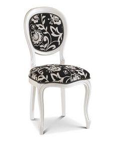 Art. 156, Lackierter Stuhl mit runder Rückenlehne