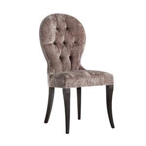 Art. CA135, Stuhl im klassischen Stil, in Samt gepolstert