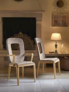 Art. VL121, Stuhl mit Armlehnen für Esszimmer