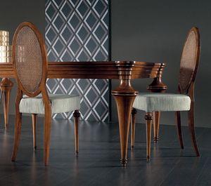 Etoile Art. ET042/P/NO, Stuhl mit ovaler Rückenlehne aus Wiener Stroh