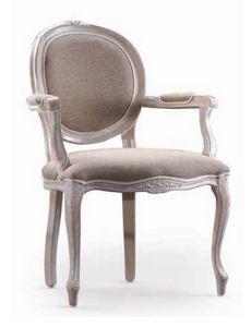 Ginevra-P, Stuhl mit Armlehnen, für klassische Einrichtung