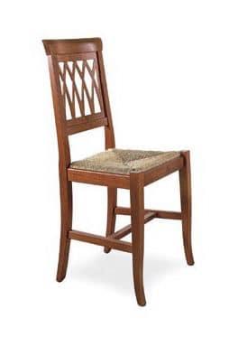 SE 157, Robuste Esszimmerstuhl, aus Holz, im rustikalen Stil