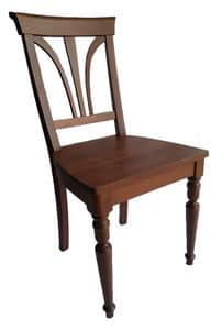 Stile, Stuhl aus Buchenholz, im klassischen Stil