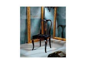 QUEEN ANNE chair 8300S, Chippendale-Stil Stuhl, gepolsterter Sitz