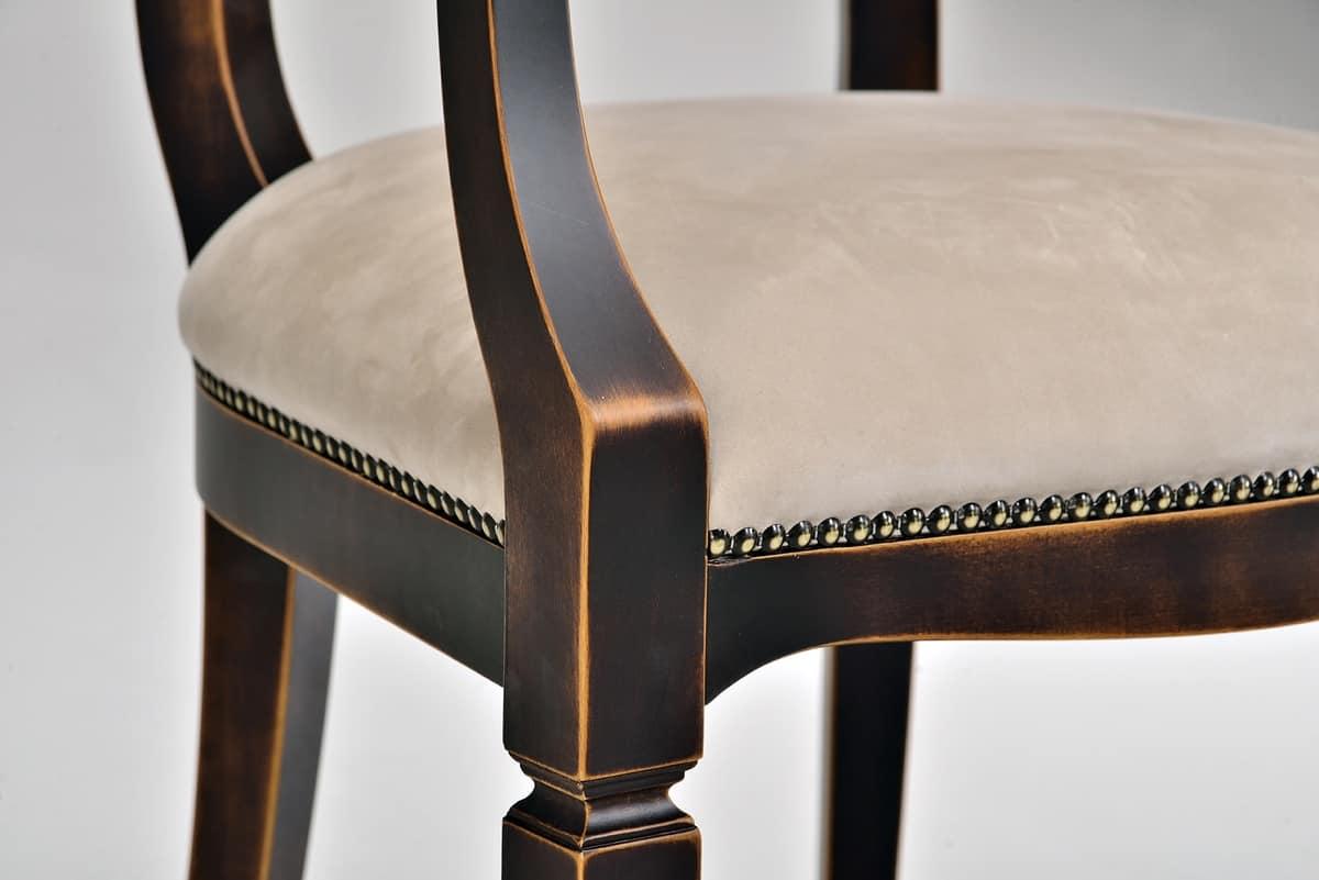 VICTORY chair 8092S, Klassischer Stuhl mit gepolstertem Sitz