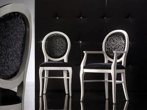ADELAIDE Stuhl 8030S, Polsterstuhl mit runder Rückenlehne, anpassbare
