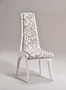 AFRODITE Stuhl 8291S, Klassischer Stuhl, gepolsterter Sitz und Rückenlehne