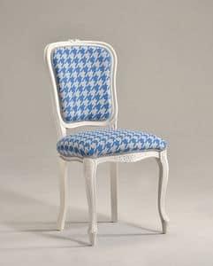 BRIANZOLA Stuhl 8017S, Stuhl im Stil Louis XV, für elegante Konferenzraum