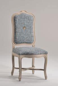 ELISABETH Stuhl 8492S, Stuhl mit Polster hoher Rückenlehne, klassischen Stil
