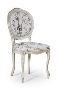 Rossella, Klassischer Stuhl ohne Armlehnen, für Esszimmer
