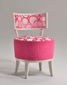 ROUND stuhl 8641S, Elegante Stuhl mit gepolstertem runde Sitzfläche, zum Restaurant