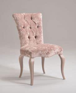 ROYAL Stuhl 8494S, Klassischer Stuhl in Buche, gepolstert, anpassbare