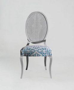 S16CANNA, Stuhl mit ovaler Rohrrückenlehne