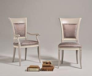 SIRIA Stuhl 8525S, Stuhl der alten Art mit Rückenlehne aus Holz