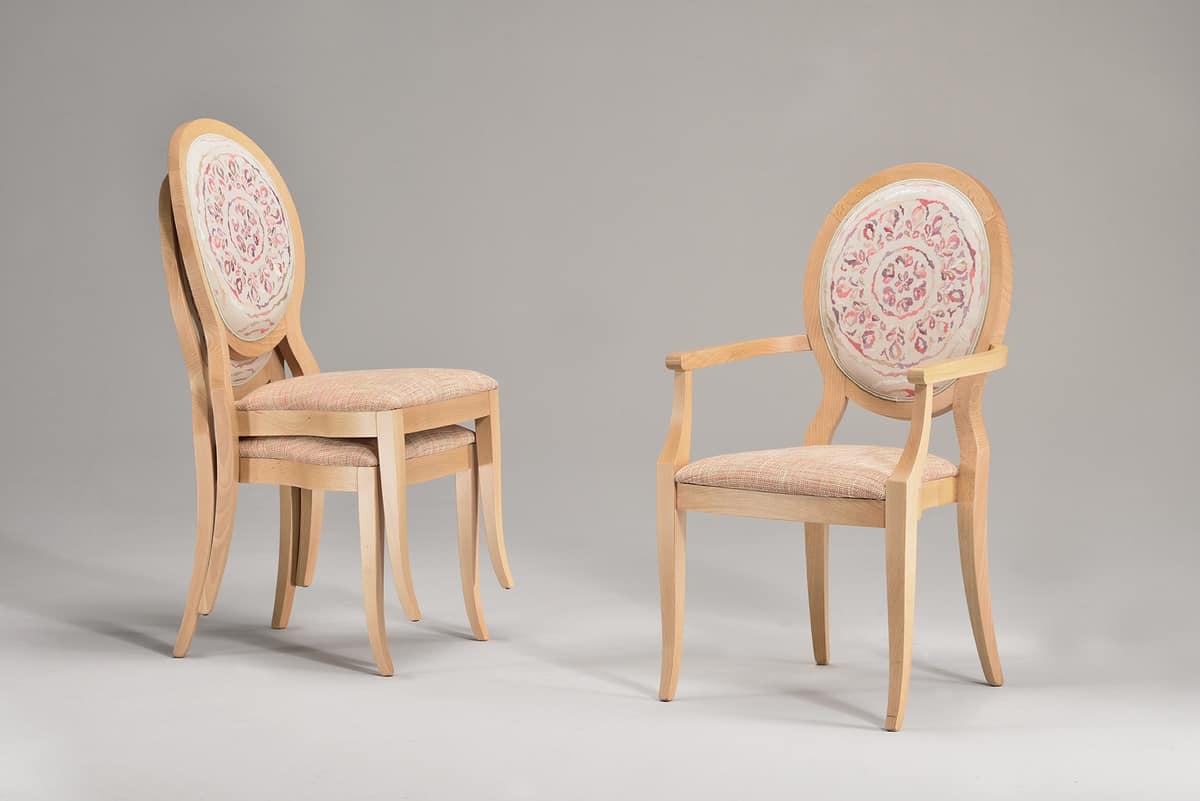 TATI chair 8084S, Stapelstuhl mit gepolstertem Sitz und Rückenlehne
