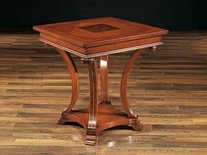 ALFRED Tisch 8451T, Buche Tisch mit geschnitzten Beinen, im klassischen Stil