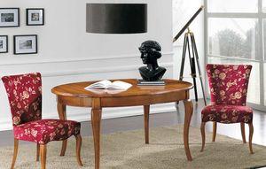 Art. 90, Massivholztisch mit ovaler Platte