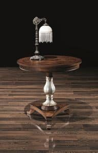 DUCA tisch 8680T, Runder Tisch aus Holz, mit dekoriert Spalte, um Hotels