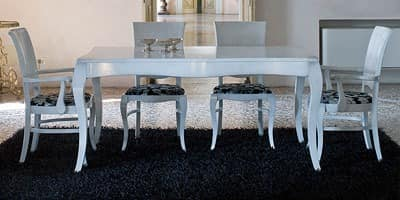 DUNA table 8340T, Ausziehbarer Tisch aus Massivholz