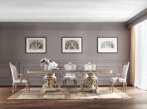 JADORE Tisch 8620T, Stately Esstisch, aus massivem Holz, mit klassischen Stil