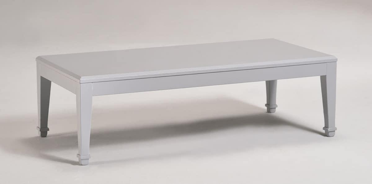 LUNA large small table 8239T, Rechteckiger Couchtisch aus Holz, klassischen Stil gemacht