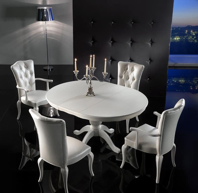 deluxe rundtisch ausziehbar f r k chen idfdesign. Black Bedroom Furniture Sets. Home Design Ideas