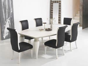ZARA table 8360T, Esstisch mit Faßdeckel und wohlgeformten Beine