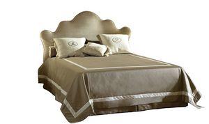 Leone, Bett mit geformtem Kopfteil