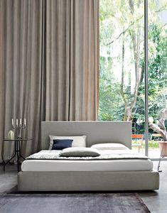 Naxos, Bett mit abnehmbarem Bezug