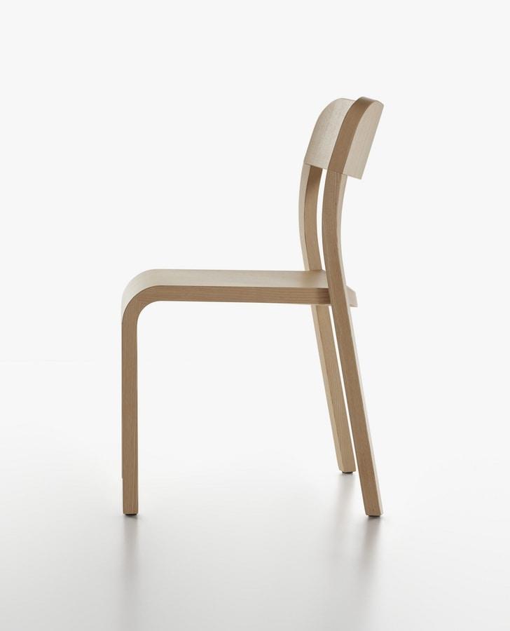 Stuhl in natur lackiert esche f r haus und restaurant for Stuhl design 20 jahrhundert