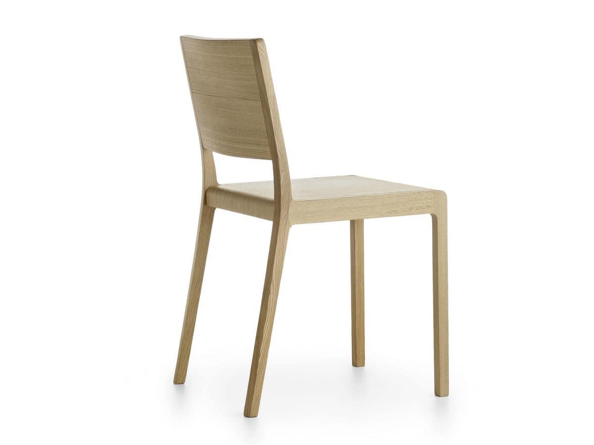 Designer Stuhl aus Massivholz abgerundete Kanten