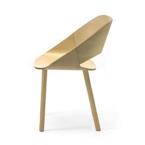 Kabira 4WL, Designer Stuhl aus Holz