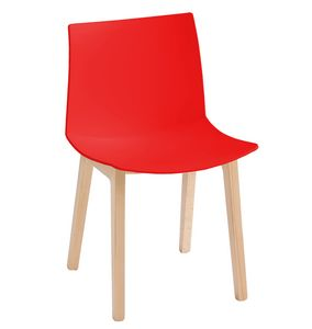 Kanvas 2 BL, Stuhl aus Buchenholz mit großem Sitz