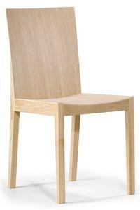 Luna, Holzstuhl mit einem einfachen Design