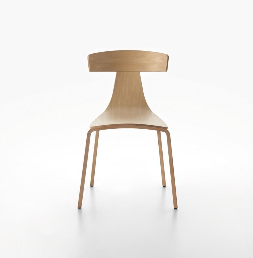 Stapelstuhl hohe bauform aus sperrholz idfdesign for Designer stapelstuhl