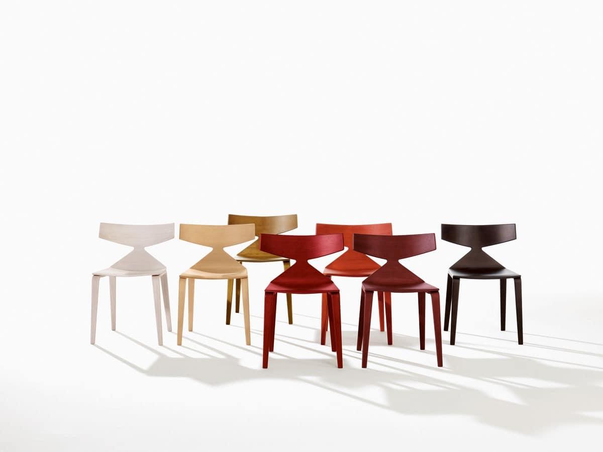 Design stuhl mit holzstruktur dynamischen linien idfdesign - Designer holzstuhl ...