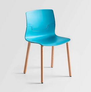 Slot BL, Stuhl mit Buchenholzbeine, Polymerhülle