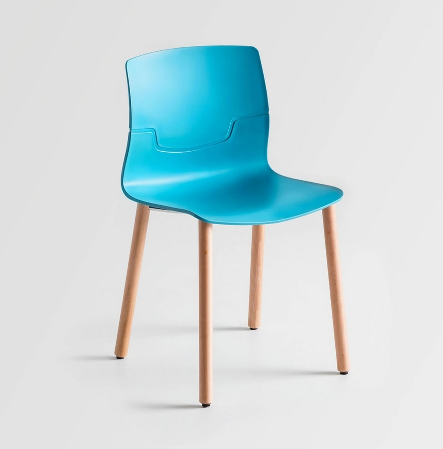 Stapelbar barhocker aus verchromtem metall und polymer for Stuhl metallbeine