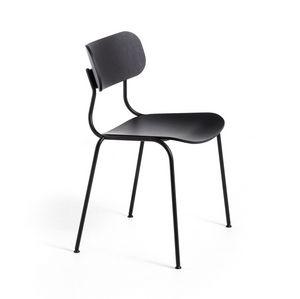 Kiyumi Wood, Stuhl aus lackiertem Stahl und Esche
