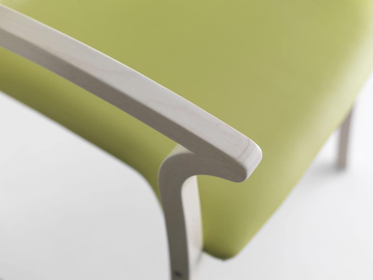 Silver Age 03 P, Stabilen Stuhl mit Armlehnen, robust, für Wartezimmer