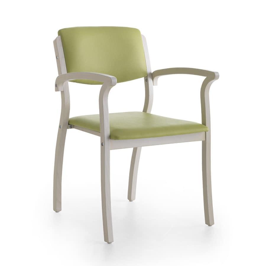 stabilen stuhl mit armlehnen robust f r wartezimmer idfdesign. Black Bedroom Furniture Sets. Home Design Ideas