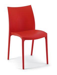 064, Stuhl aus Polypropylen, geeignet für Eisläden und Gärten