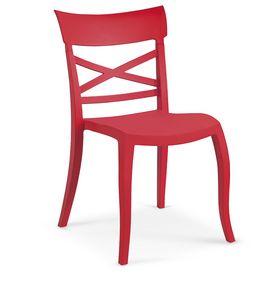 1719, Stuhl komplett aus Polypropylen für Außenbar