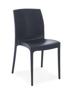 2064, Stuhl für Restaurants und Outdoor-Cafes, in Polypropylen