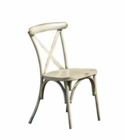 2089, Stuhl aus verzinktem Blech, im Wiener Stil
