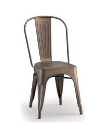 2092 rust, Stuhl in lackiertem Blech, für Bars und Gärten