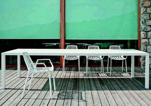 9607 Rion, Stuhl mit Armlehnen, aus Metall, für den Außenbereich